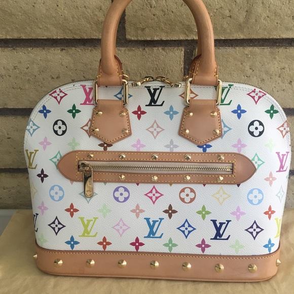 e32e3f90d8fe Louis Vuitton Handbags - Authentic Louis Vuitton Handbag Alma PM Multicolor